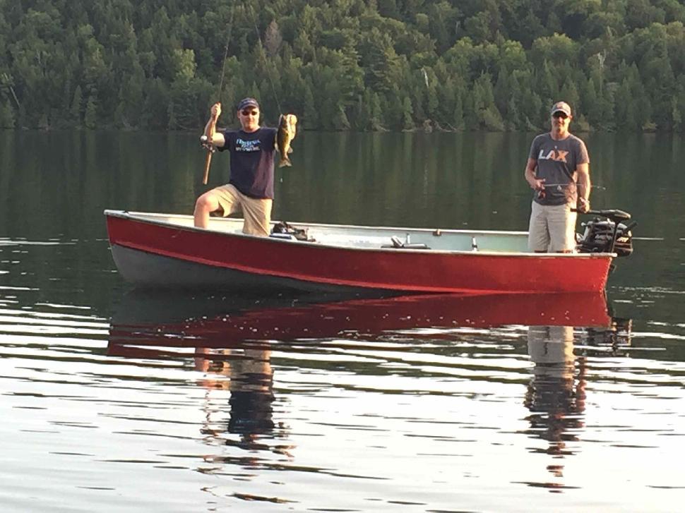 Patrick Walsh (left) and Jon Baker on Birch Lake