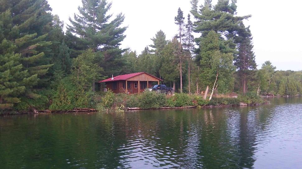 The group's outpost cabin on Birch Lake