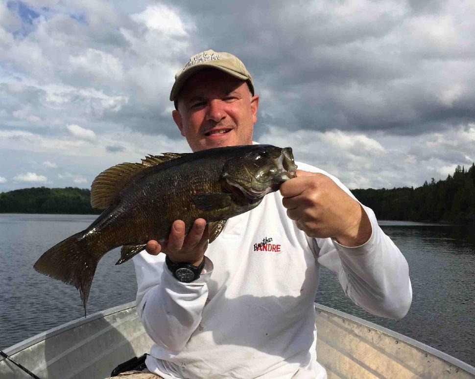 Bill Shields and a chunky Birch Lake specimen