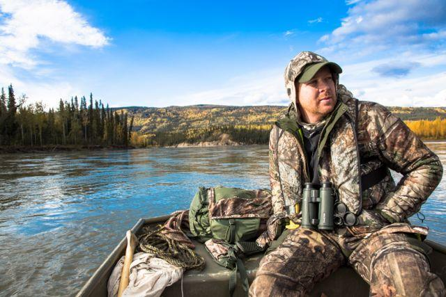 The author scans the Stewart for bull moose. Credit: Cody Altizer.