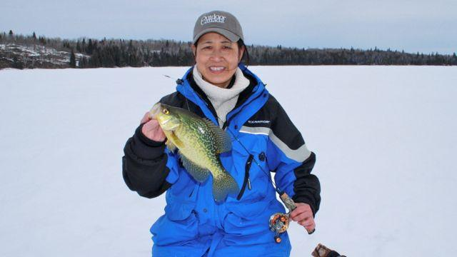For reluctant crappies, use a light jigging rod, with a spring bobber and single-action reel.Credit: Scott Gardner.