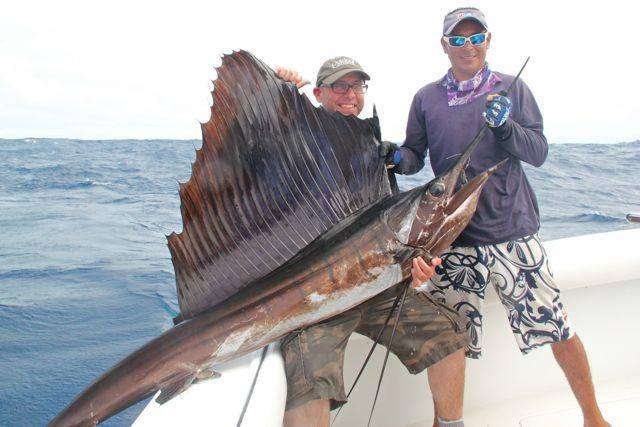 Credit: Bob Sexton. The author's prize sailfish.