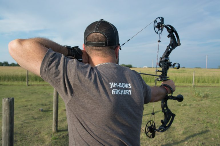 Holding your bow a full draw requires strong healthy back muscles. Credit: nuttallphotos.com