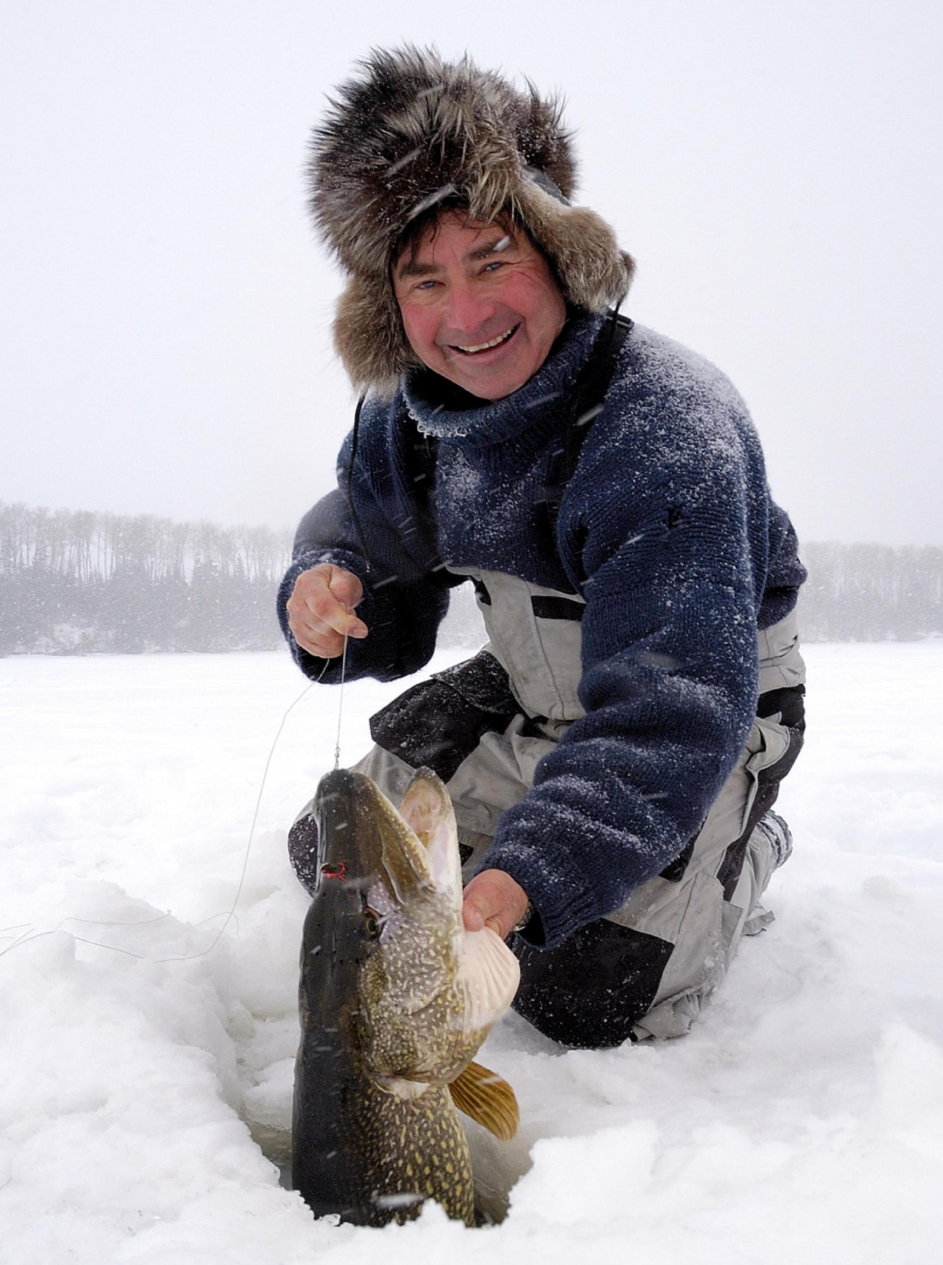 Gord Pyzer with a pike