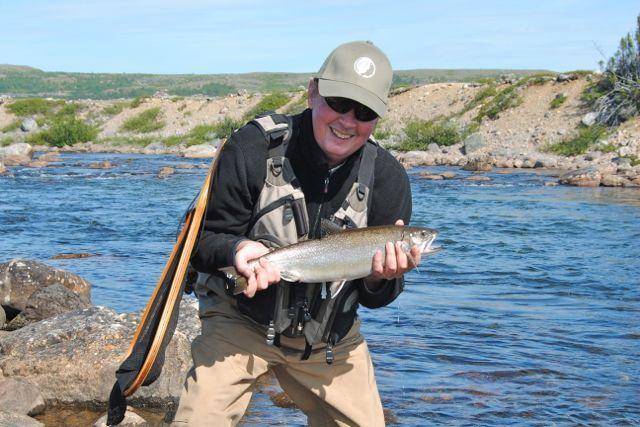 The author and a Lagrevé brook trout