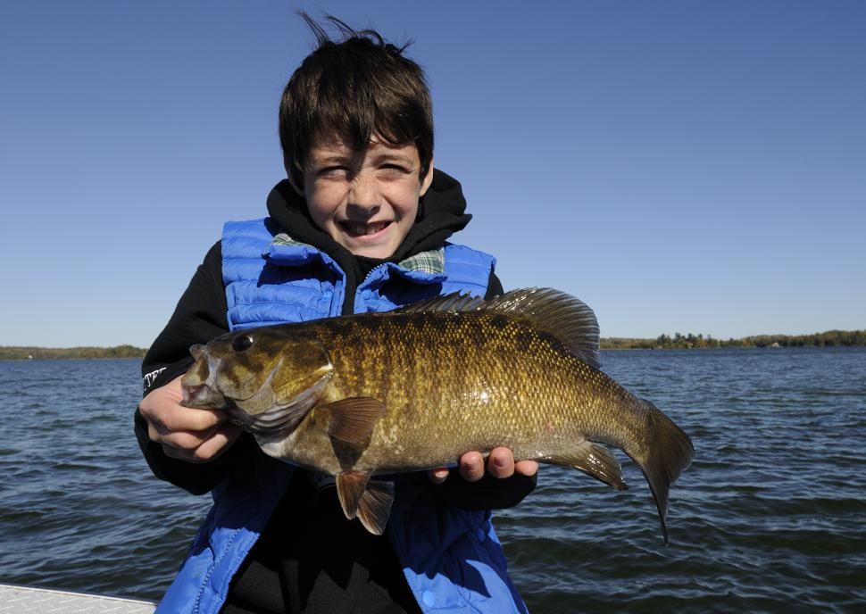 What ten-year old Campbell Whetter may not realize is that the 4 1/2 pound smallmouth bass he caught in Lake of the Woods is almost twice as old as he is