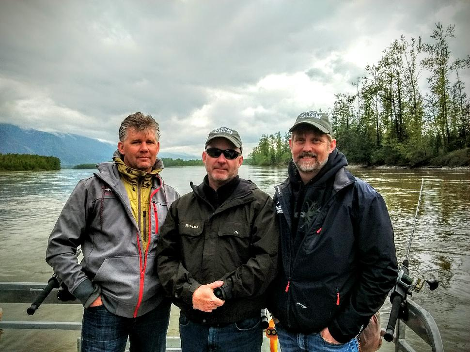 Three fishing friends