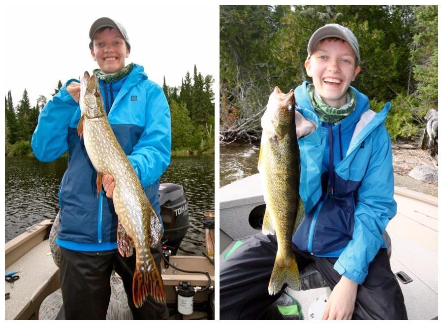 Sam shows off some nice catches. Credit: Scott Gardner.