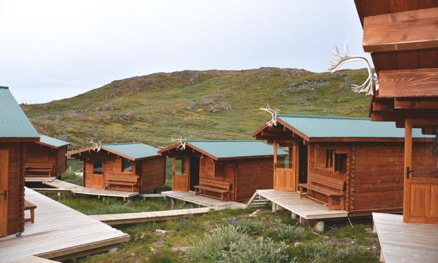 Credit: Ken Bailey. Caribou camp cabins.