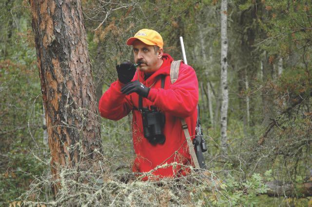 Both bugles and cow calls are effective during the rut. Credit: Mike Hungle.