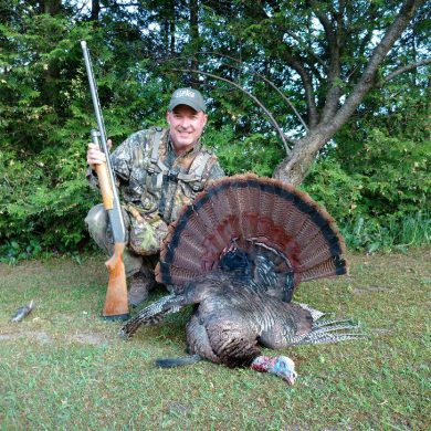 "Outdoor Canada editor Patrick Walsh's 2016 spring turkey. ""Brutally"" and ""viciously"" killed, or simply legally hunted? Credit: Patrick Walsh."