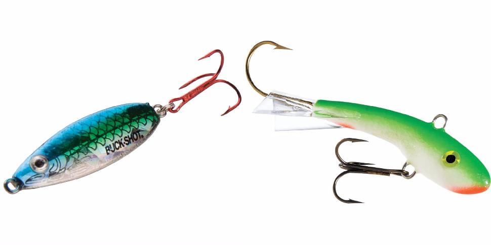 Northland's Buck-Shot Rattle Spoon and Moonshine Lures' Shiver Minnow