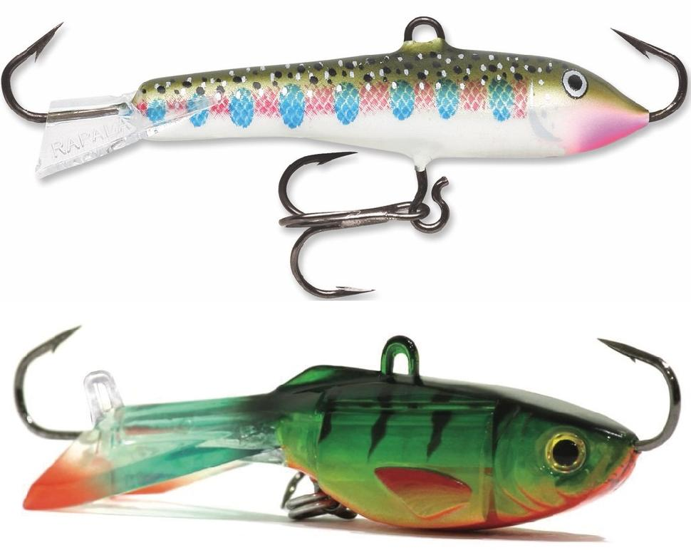 Horizontal minnows such as the Jigging Rap (top) and Hyper-Glide (lower) and the are tops