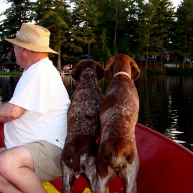 Fishing with dogs requires some simple precautions. Credit: Alyssa Richard.