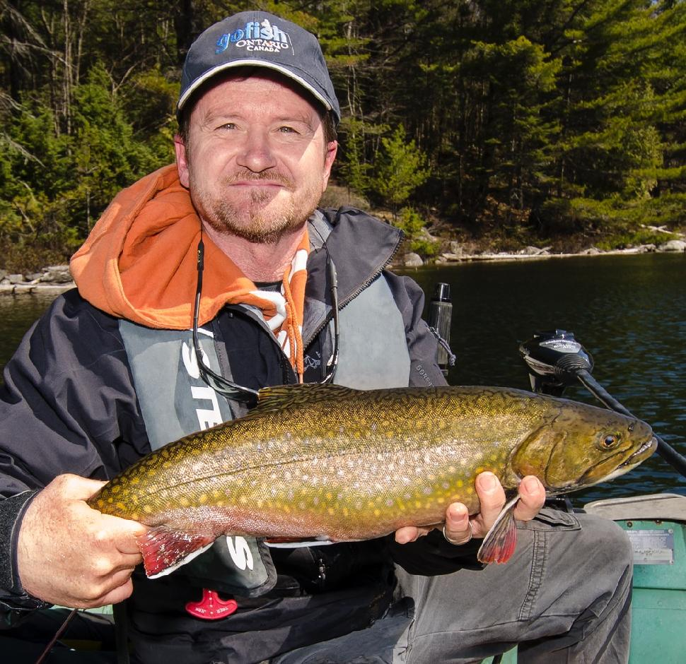Credit: The Fish'n Canada Show Pete Bowman and a big back-lake brookie