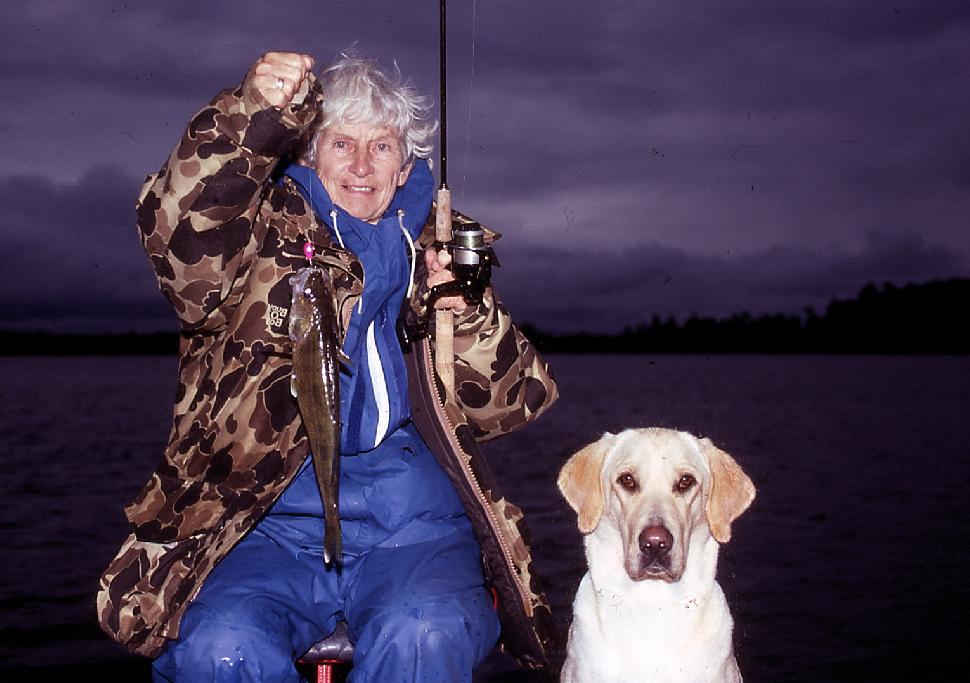My mom, on her last fishing trip ever with me.