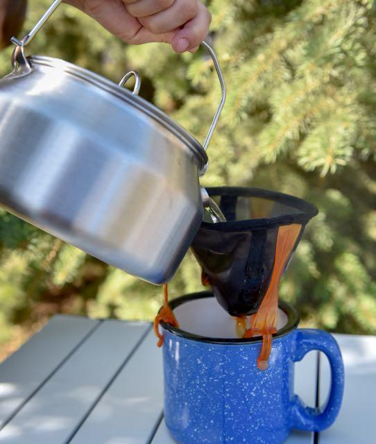 Credit: Lowell Strauss The pour-over method best suits one cup